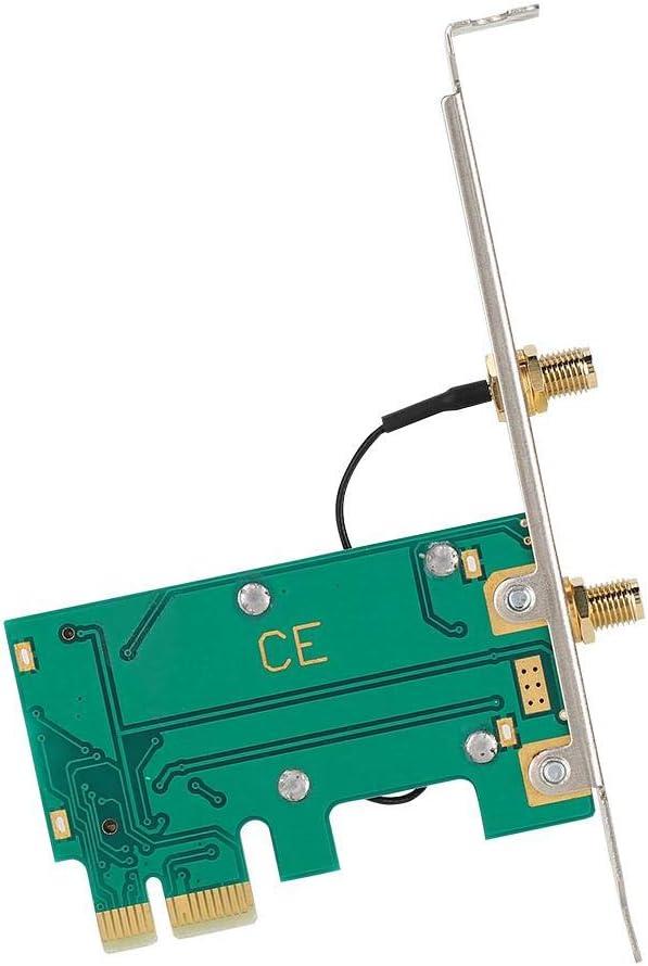 fo sa Mini Network Card,for Intel 7260AC 7260HMW AC Wireless Desktop Network Card 867Mbps Dual-Band PCI-E x1 Desktop Network Card