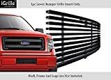 f150 back bumper - Fits 2009-2014 Ford F-150 Lower Bumper Stainless T304 Black Billet Grille Grill #N19-J98766F