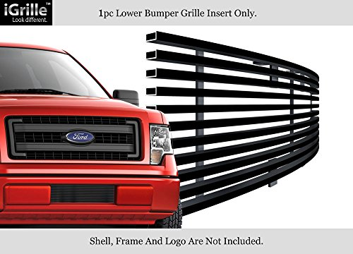 APS Fits 2009-2014 Ford F-150 Lower Bumper Stainless T304 Black Billet Grille Grill #N19-J98766F