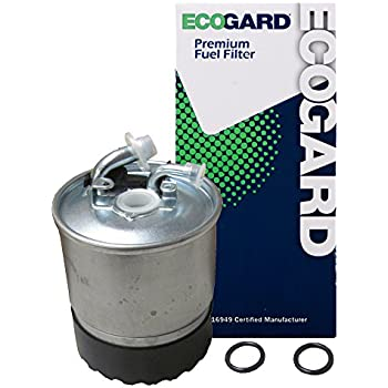 ecogard xf56305 engine fuel filter - premium replacement fits dodge  sprinter 2500, sprinter 3500 / mercedes-benz sprinter 3500, sprinter 2500,  e320, gl350,