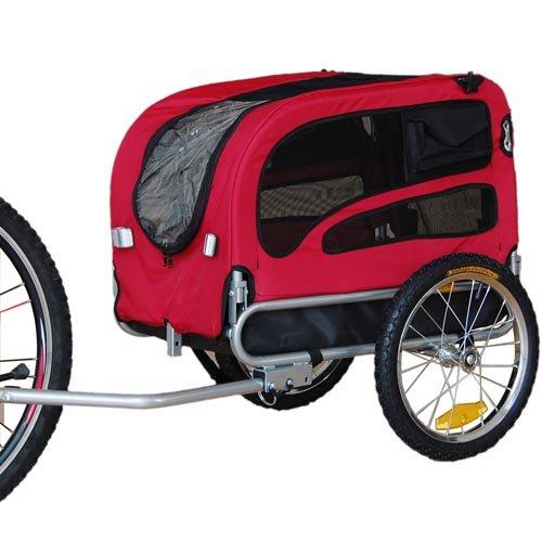 Doggyhut Medium Pet Bike Trailer / Jogger Kit Dog Bicycle Carrier Red 7030101