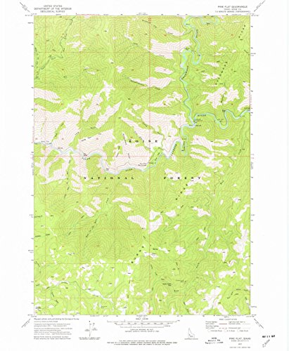 Idaho Maps | 1972 Pine Flat, ID USGS Historical Topographic Map | Cartography Wall Art | 18in x 24in