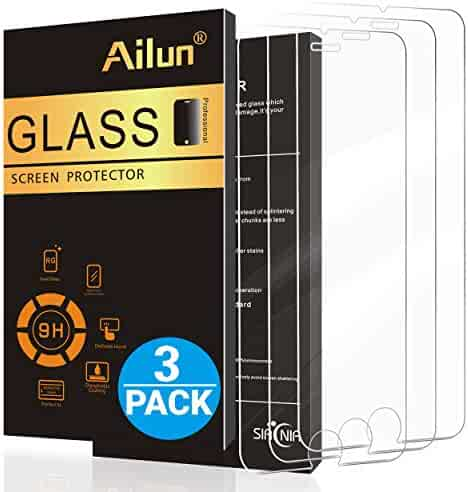 Ailun Screen Protector for iPhone 8 Plus 7 Plus 6s Plus 6 Plus 5.5 inches 3Pack 2.5D Edge Tempered Glass Compatible with iPhone 8 Plus 7 Plus 6s Plus 6 Plus Anti-Scratch Case Friendly