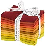 Robert Kaufman Kona Cotton Solids Autumn Hues Fat Quarter Bundle