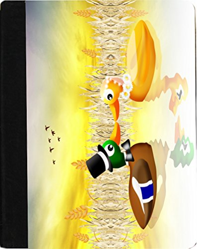 Bridal Knight (Rikki Knight Bride and Groom Ballad Ducks in Love on Pond Faux Leather Case for Apple iPad Mini (Not for iPad mini 4))