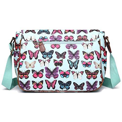 Miss Lulu - Bolso estilo cartera para mujer Butterfly Green