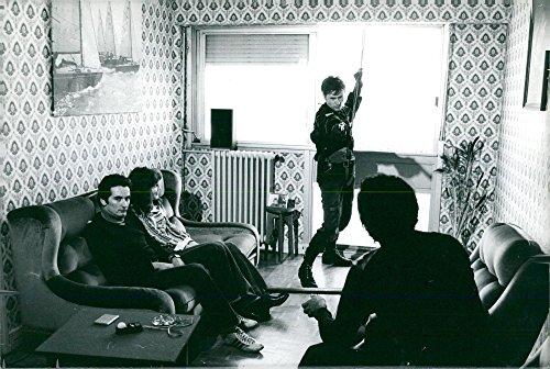 (Vintage photo of Gendarmeri police coaches)