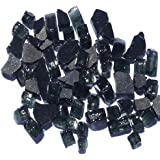 1/2 Black Reflective Arctic Flame Glass