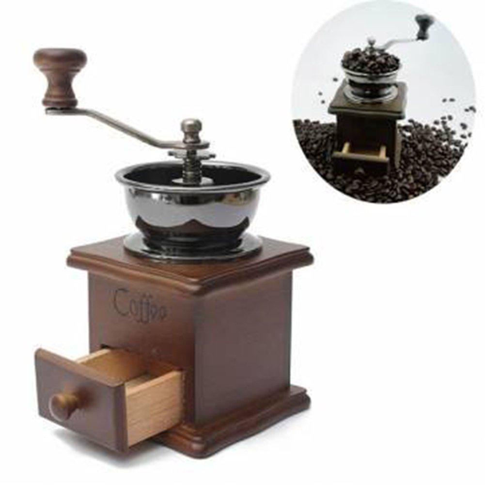 in Ceramica Arredamento Chicco di caffè smerigliatrice a mano Maker In legno stile Vintage marrone