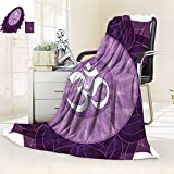 vanfan Heavy Blanket Winter Circular Lace Point Form Arabic Lettering The in Node Centre Meditation Image,Silky Soft,Anti-Static,2 Ply Thick Blanket. (80''x60'')