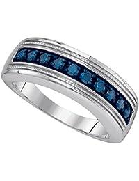 Amazoncom Blue Diamond Diamond Rings Jewelry Clothing