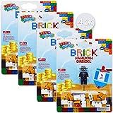 Izzy 'n' Dizzy Build Your Own Brick Dreidel - 35 Block Pieces, 4 Sticker Sets, 4 Figure Set - Binyan Blocks - Hanukah Toys, Games - Assorted Designs