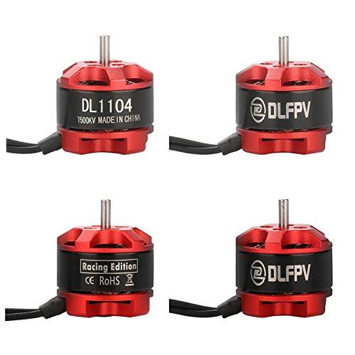 DLFPV 4pcs DL1104 7500KV Motor Brushless for FPV RC Drone Mini Racing Drone Quadcopter