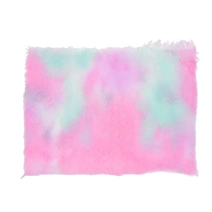 Amazon.com: Qlychee - Tela de piel sintética para arco iris ...