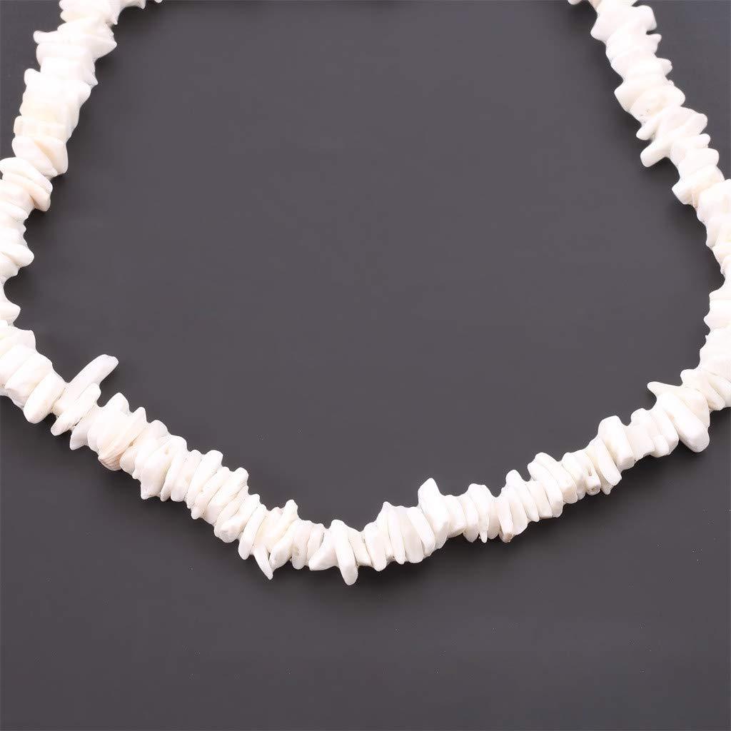 Goddesslili Puka Shell Necklace for Women Girlfriend Girls Ladies Retro Creative Natural Shell Piece Jewelry Vintage Wedding Engagement Anniversary Luxury Jewelry Gift Under 5 Dollars Style I