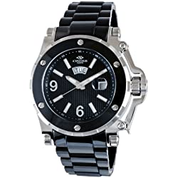 Oniss Paris Men's ON670-M/BK Ceramic Guard High-Tech Ceramic Case Swiss-Quartz Watch