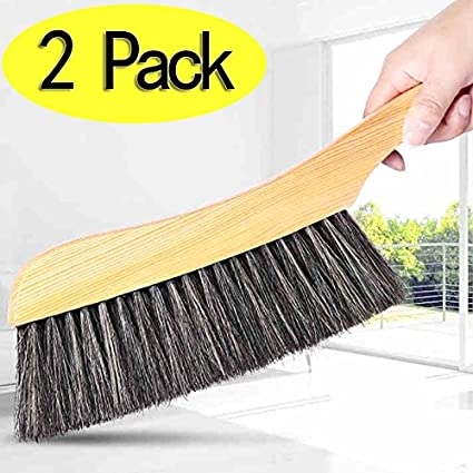 Beau Soft Cleaning Brush  2PCS Wood Handle Hotel Family Clothes Dust Hair Sofa  Bed Sheets Bedspread