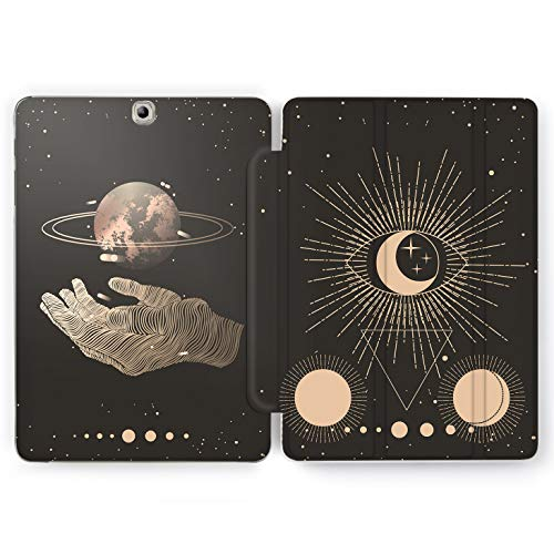 Wonder Wild Space Cheromancy Samsung Galaxy Tab S4 S2 S3 Smart Stand Case 2015 2016 2017 2018 Tablet Cover 8 9.6 9.7 10 10.1 10.5 Inch Clear Design Palms Eyes Shining Universe Stars Jupiter Triangles -