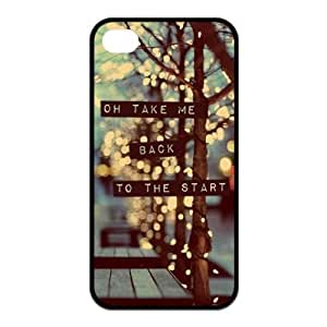 iPhone 4/4S Case, Coldplay Hard TPU Rubber Snap-on Case for iPhone 4 / 4S