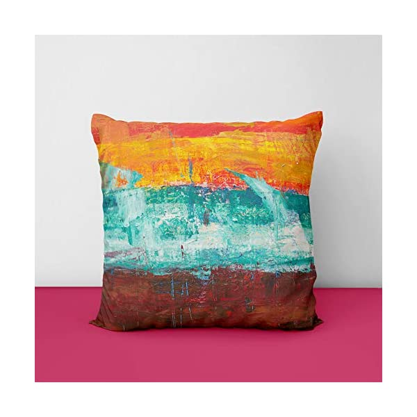 51aRhl6abVL Painting Colour Square Design Printed Cushion Cover