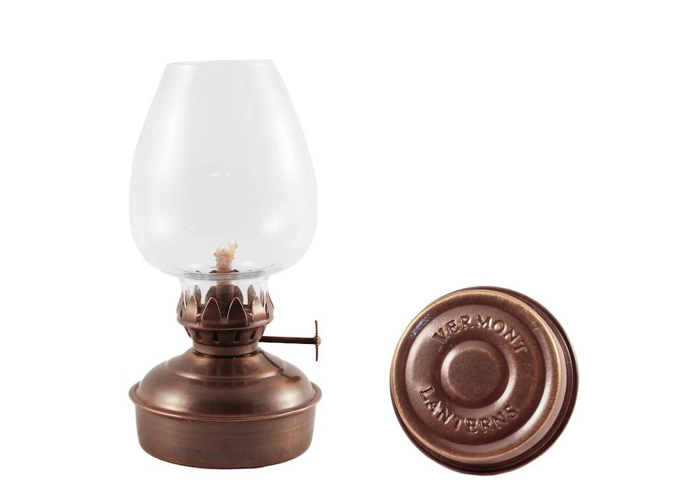 Vermont Lanterns Brass Mini Oil Lamp 5.75'' (Antique Brass)