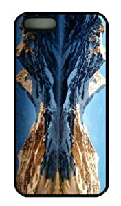 Case For Ipod Touch 4 Cover - Customized Unique Design Mountain Peaks Reflection New Fashion PC Black Hard