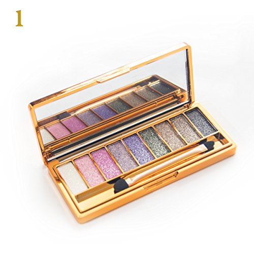 Sporthway Women 9 Colors Waterproof Make UP Glitter Eyeshado