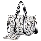 Miss Lulu 2PCS Women Large Travel Handbag Shoulder Bag Tote
