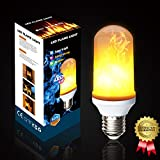 #9: Greluna Flame Light Bulb, 2 Modes E26 LED Flame Effect Fire Light Bulbs, Flame Flickering Lamps Perfect for Garden Light/Garden Lantern /Bars Light/Floor Light /Wall Sconces Light (1 Pack)