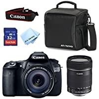 Canon EOS 60D Camera Body with Canon 18-135mm IS Zoom Lens + Al's Variety Deluxe Gadget Bag + 32GB Bandwidth Memory Card + Al's Variety Premium Cleaning Cloth + Top Value Bundle