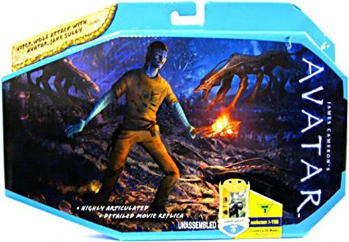 James Cameron's Avatar Movie Toy Viper Wolf Attack With Avatar Jake Sully (R2310) ()