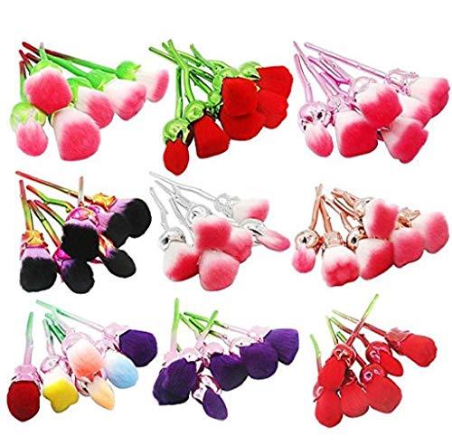 In Forma Trucco Rosso Del 6 Rosa Fiore Moda Nylon Plastica Di Diversa Scpink Pz Stelo Sfumatura Pennello Testine Manico Multicolore Da RAnx4Uw