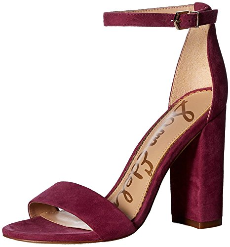 Sam Edelman Women's Yaro Heeled Sandal, Mulberry Pink, 9 M US by Sam Edelman