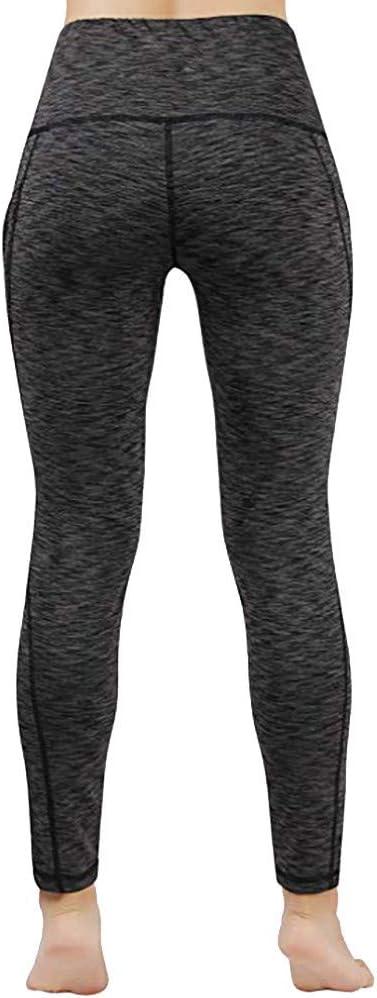 leggins a vita alta leggings da fitness hahashop2 Leggings sportivi da donna pantaloni da jogging a tinta unita sui fianchi Slim m Nero pantaloni da yoga pantaloni sportivi