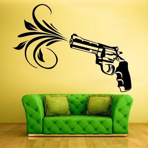 Amazon.com: gun wall decal gun wall art gun wall decal stickers gun ...