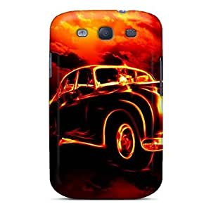 For Galaxy S3 Premium Tpu Cases Covers 3d Car In Fire Protective Cases