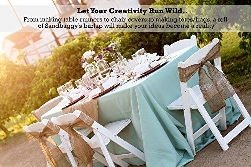 Sandbaggy Burlap Fabric Roll- for Garden, Yard, Wedding, Craft, Decorating Tables - 40 inch x 300 ft (1) by Sandbaggy (Image #6)
