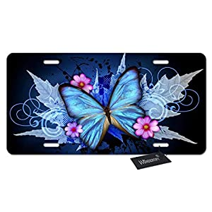 License-Plate-Retro-Style-Butterflies-and-Flowers-Maple-Leaves-Decorative-Car-Front-License