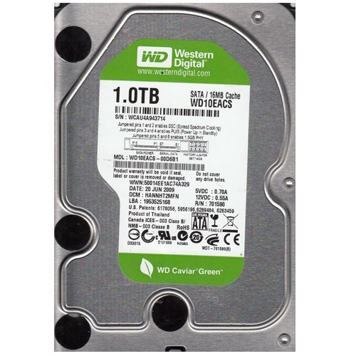 Sata 300 7200rpm 16mb Buffer (Wd10eacs Western Digital 1Tb 7200Rpm 16Mb Buffer Serial Ata Ii/300 3.)