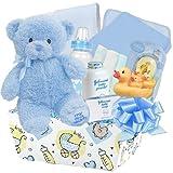 Baby Boutique ''Splish Splash Baby Bath Basket'' Boy's New Baby Gift Basket, Blue
