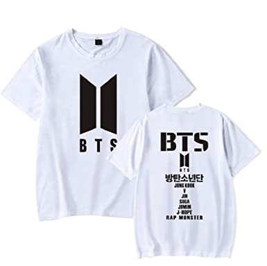 Tops & Tees Kpop Short Sleeve T Shirts Army Korean Bangtan Boys Fashion T-shirt Women Men K-pop Cotton Casual Hip Hop Funny Plus Size Tops T-shirts
