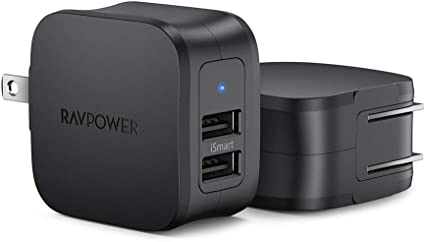 Amazon.com: RAVPower 2-Pack USB Charger Negro cargador de ...