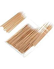 Sakolla 400 Count Pointed Cotton Swab - Precision Microblading Cotton Tipped Applicator & Tattoo Permanent Supplies Cotton Swabs Makeup Cosmetic Applicator Sticks - 2 Size