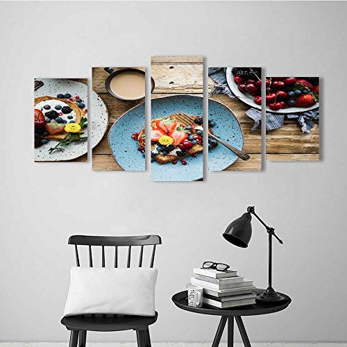 Five Pieces Wulian Painting Living Room Decoration Frameless Fresh Fruit Salad for Living Room Office Decor Gift