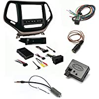 Metra 99-6526BZ Bronze Double DIN Stereo Dash Kit for Select 14-up Jeep Cherokee Metra Axxess ASWC-1 Universal Steering Wheel Control Interface And Antenna Adapter
