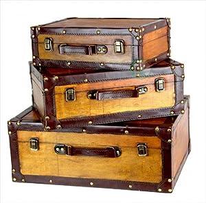 Amazon.com: Vintiquewise(TM) Old Vintage Suitcase/Decorative Trunk ...
