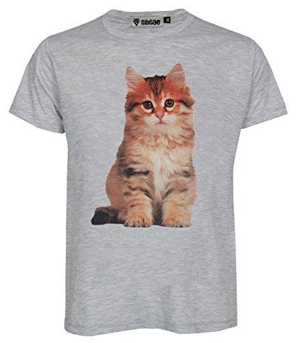 Topcloset Cute Siberian Kitten Cat Animal Unisex T-Shirt Size L