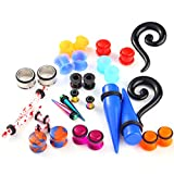 BodyJ4You 18PCS Mix Randomly Assorted Ear Piercing Gauges Taper Tunnel Plug Stretching Expanders 6G-16mm