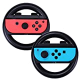 HDE Nintendo Switch Joy-Con Wheel Set of 2 Racing Wheel Controller Bodies Wear Resistant Kart Racing Game Accessory