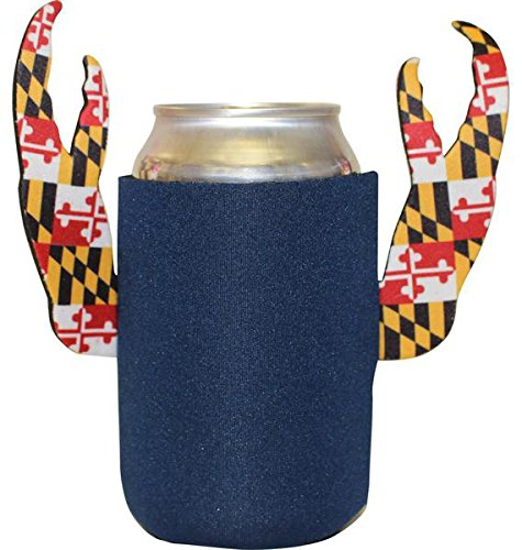 Route One Apparel Maryland Flag Crab Claw Koozie (Blue)
